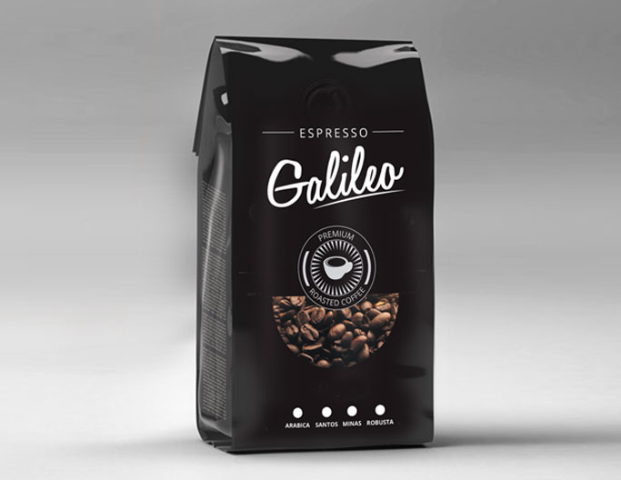 <b>Galileo Premium Coffee</b><br>Roasted Beans & Powder 500g